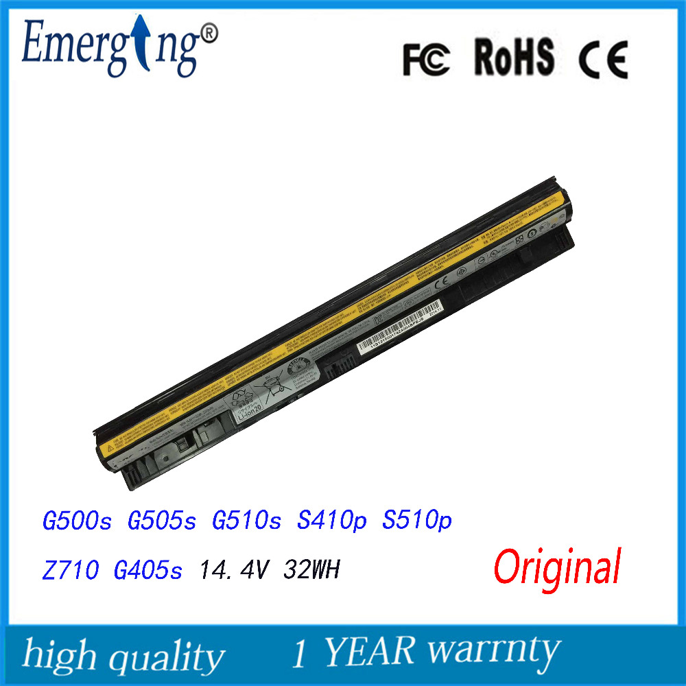 14.4V 32Wh Original New Laptop Battery for Lenovo IdeaPad G400s G500s Z710 G500s G505s L12L4A02 L12M4E01 L12S4A02 L12S4E01 new lenovo g500s g505s ap0yb000h00 bottom base cover
