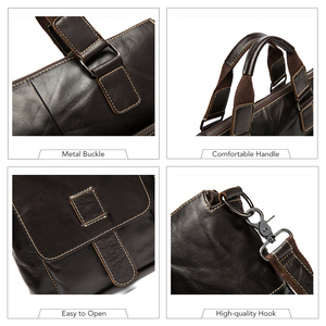 Image 5 - WESTAL mens briefcases mens bags genuine leather laptop bag leather work office bags for men business briefcases bags male 260