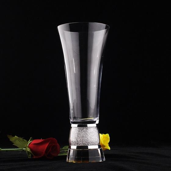 elegante diseo rectngulo boda bonito jarrn florero de cristal de flores del grado superior de cristal