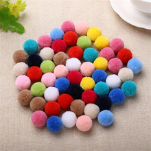 50Pcs pompom Fluffy Plush fabric Craft DIY Comfortable pon pom pon poms ball furball dwelling decor Stitching Provides Craf  combine coloration