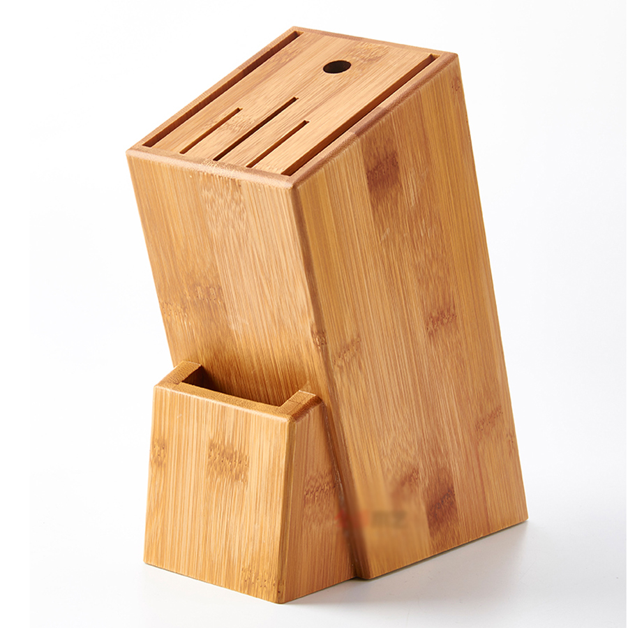 High Quality Wood Kitchen Knife Holder Multifunctional Storage Rack Tool Holder Bamboo Knife Block Stand Kitchen