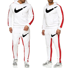 Men Sportswear Hoodies Pants Set Autumn/Winter Track Suit Clothes Casual Tracksuit Sweatshirts Coats Male Joggers Streetwear