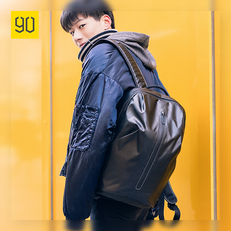 Xiaomi Ecosystem All Weather Upgraded Backpack Fashion Waterproof bag Travel College School Bussiness ,Black/Orange red