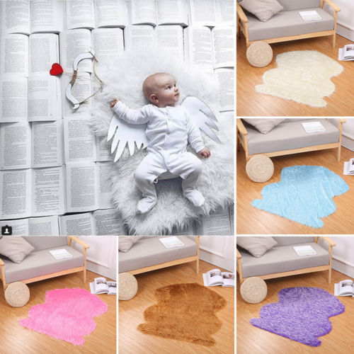 Soft Fur Quilt Mat Blanket Rug Baby Photo Props Backdrop for Newborn Photography