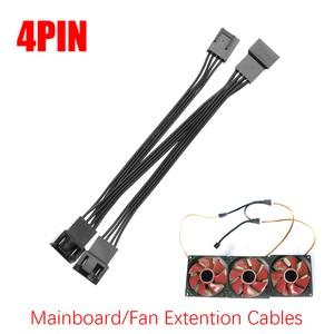 Hot Sale Professional Mainboard CPU 4 PIN Fan Extension Cables Computer Case PWM Fan Splitter Connectors Computer Supplies