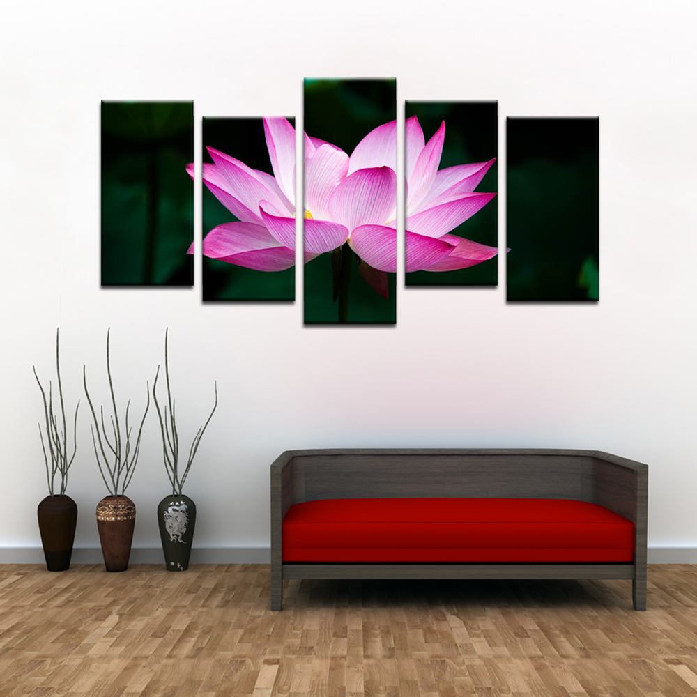 Us 1799 Home Decoration Painting Wall Art Contemporary Lotus Flower Printed Poster Canvas Wall Pictures Kids Room Decor Livingroom Decor In