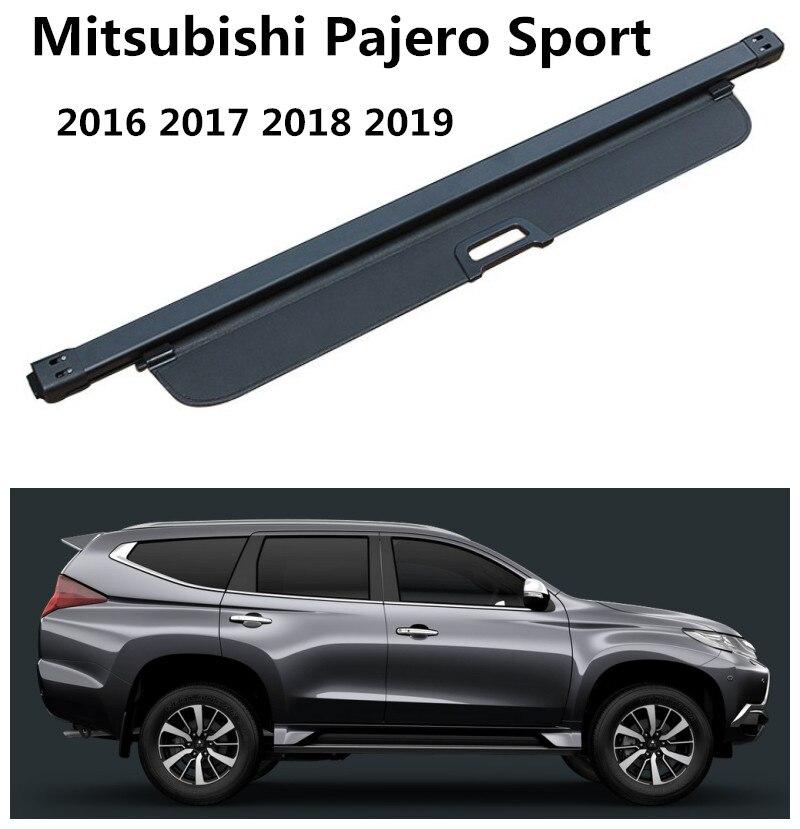For Mitsubishi Pajero Sport 2016 2017 2018 2019 Rear Trunk Cargo Cover Security Shield Screen shade High Qualit Car Accessories Mitsubishi Pajero