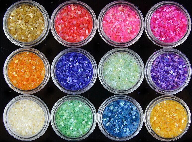 Nails Art & Werkzeuge Nagelglitzer Aggressiv Ungiftig Metall Glitter Nail Art Werkzeug Pulver Shell 12 Farben Umweltschutz Nagellack Diy Maniküre Dekoration Preisnachlass