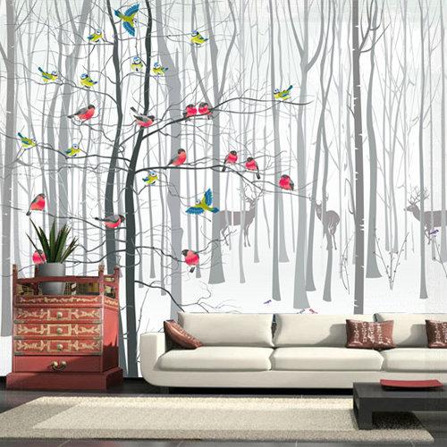 3D Photo Wall Wallpaper Murals for Living Room Modern Bird ...