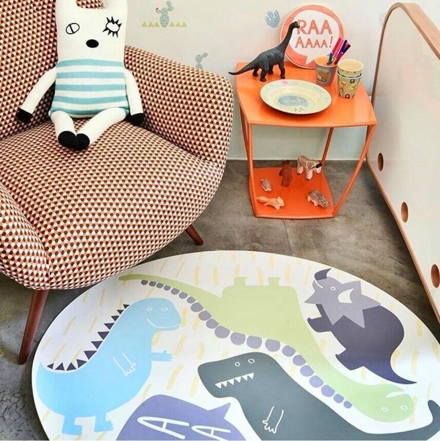 Nouveau bébé tapis tapis de jeu dessin animé dinosaure Infantil 1 cm épaisseur mousse Puzzle tapis enfant en bas âge ramper tapis de jeu couverture pour bébé - 6