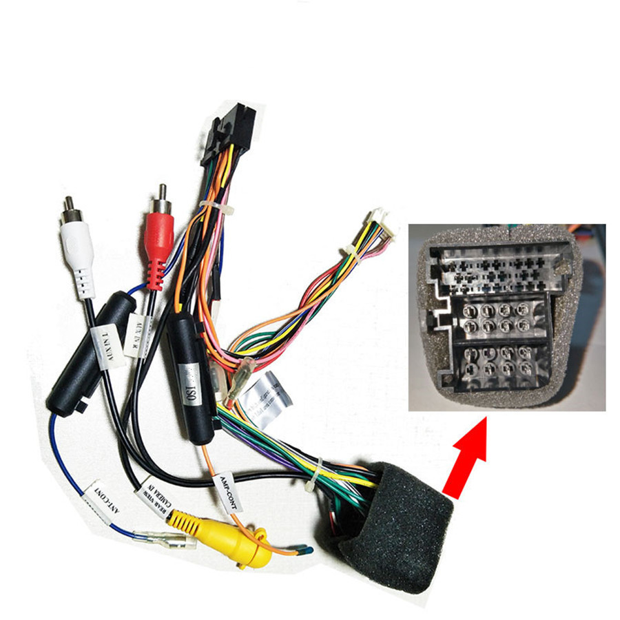 20 pin car stereo wiring harness connector adapter for vw before 2015  year fascias  - aliexpress  aliexpress