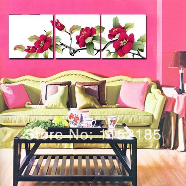CLSTROSE Cheap Price Modern Flowers Canvas Painting 4 Pieces Wall ...