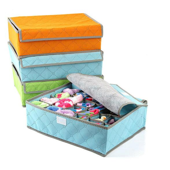 Online Shop 2015 Wholesale Price Of 4Colors Cloth Storage Box Foldable  Drawer Closet Container Underwear Storage Box 7/16/24 Cell   Aliexpress  Mobile