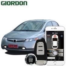 CIVIC 2008 car accessories Keyless Entry Comfort System PKE Phone APP Remote Start Car Engine Alarm Push  913