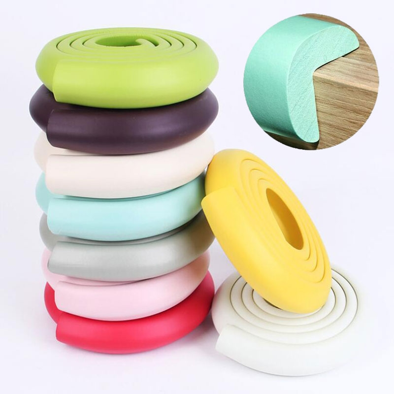 2M Baby Safety Table Desk Edge Guard Strip Home Cushion Children Safe Protection Tape Furniture Corners Angle Soft Anti-crash
