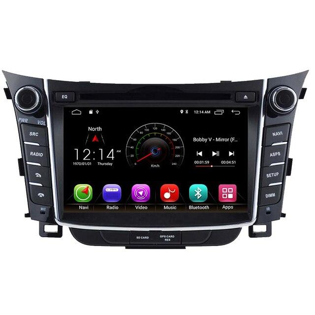 Android 8,1 reproductor de dvd del coche para I30 Hyundai Elantra GT 2012, 2013, 2014, 2015, 2016 Radio de coche gps navegación ESTÉREO multimedia 2G RAM