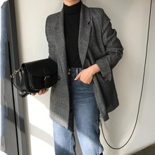long sleeve cotton blazer