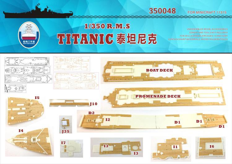 Modelo de montagem dockyard 350048 1/350 british cruises titanic (com minicraft) dockyard deck brinquedos