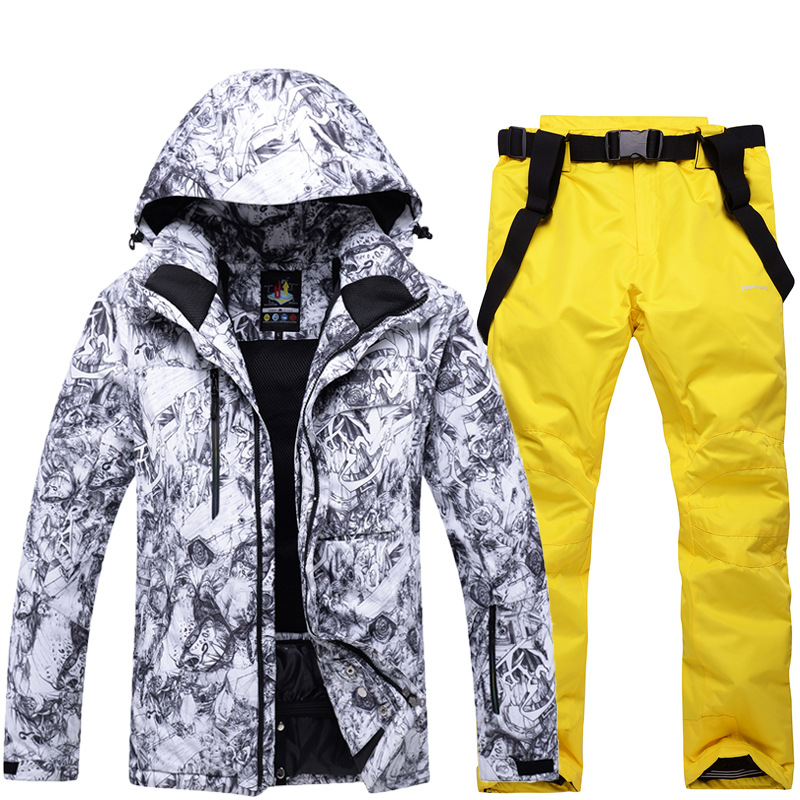 Vestes de Ski thermiques hommes vêtements de snowboard tenue de ville d'hiver veste de Ski de neige à capuche coupe-vent vêtements de Ski imperméables - 5
