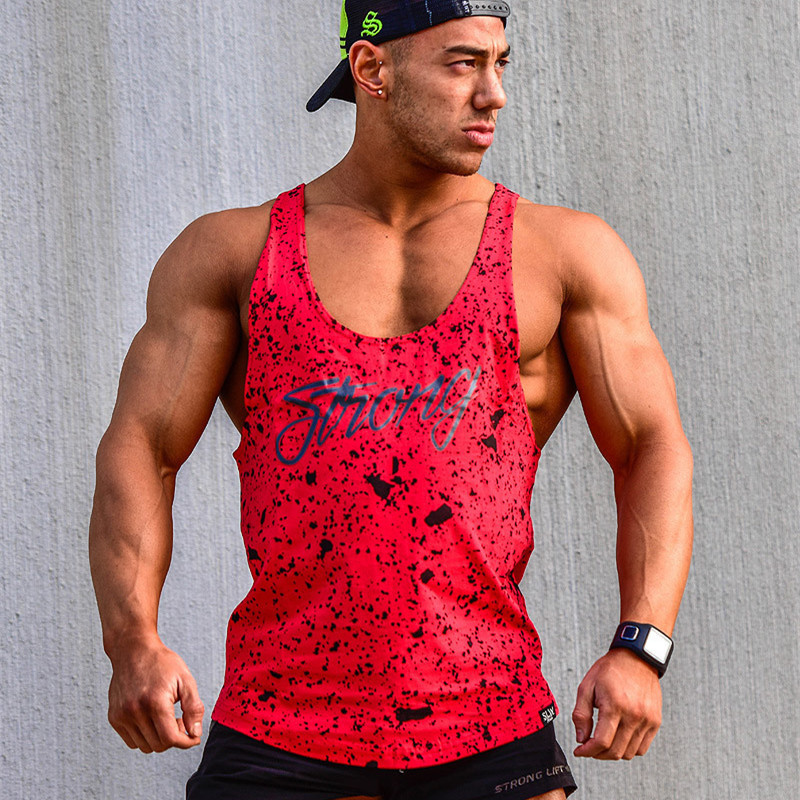 FRMARO Clothing fitness wear men silod tank top men bodybuilding stringers mens singlet gyms tanktop workout clothes for men in Tank Tops from Men 39 s Clothing