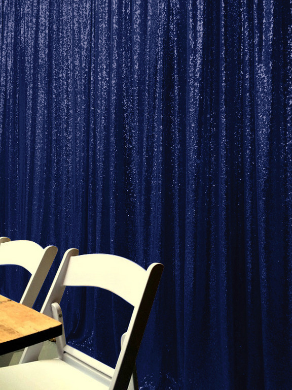 ShinyBeauty 20FT X 10FT Navy Blue Luxury Sequin Drapes Big Size Shimmer Sequin Curtain Backdrop Background