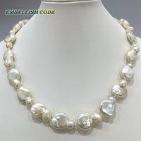 特別なピーナッツひょうたん形状不規則なケシstelyホワイト色生まれ変わる本物の天然淡水真珠のネックレスカスタマイズされた受け入