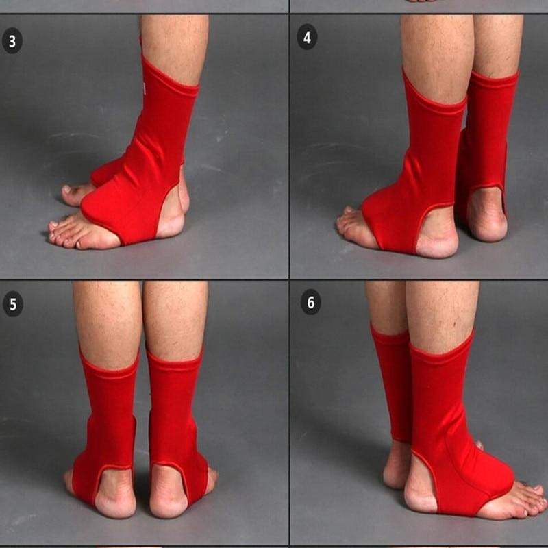 MMA Karate Taekwondo rúgás boksz boka védőcipő támogató zokni felnőtt gyermek 100% pamut labdarúgó láb támogatója
