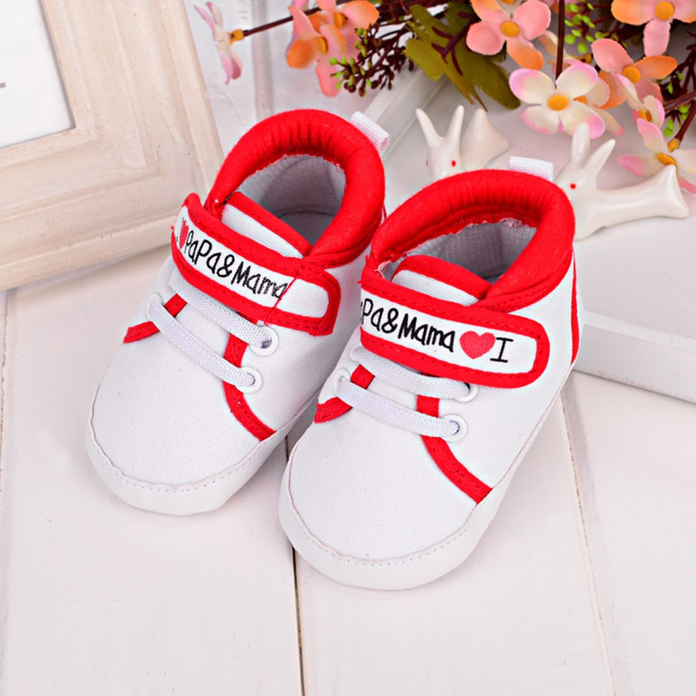 Toddler Shoes Love Papa Sneaker First-Walkers Canvas Soft-Sole Girl Infant Baby Baby-Boys-Girls