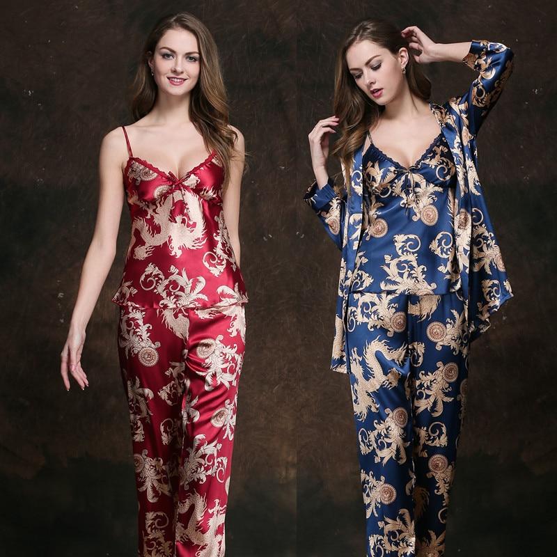 Damen-nachtwäsche Freundlich Neue Frauen Mädchen Seide Satin Pyjamas Pyjama Schlaf Bottoms Spitze Floral Print Comfy Nachtwäsche Nachtwäsche Loungewear Homewear