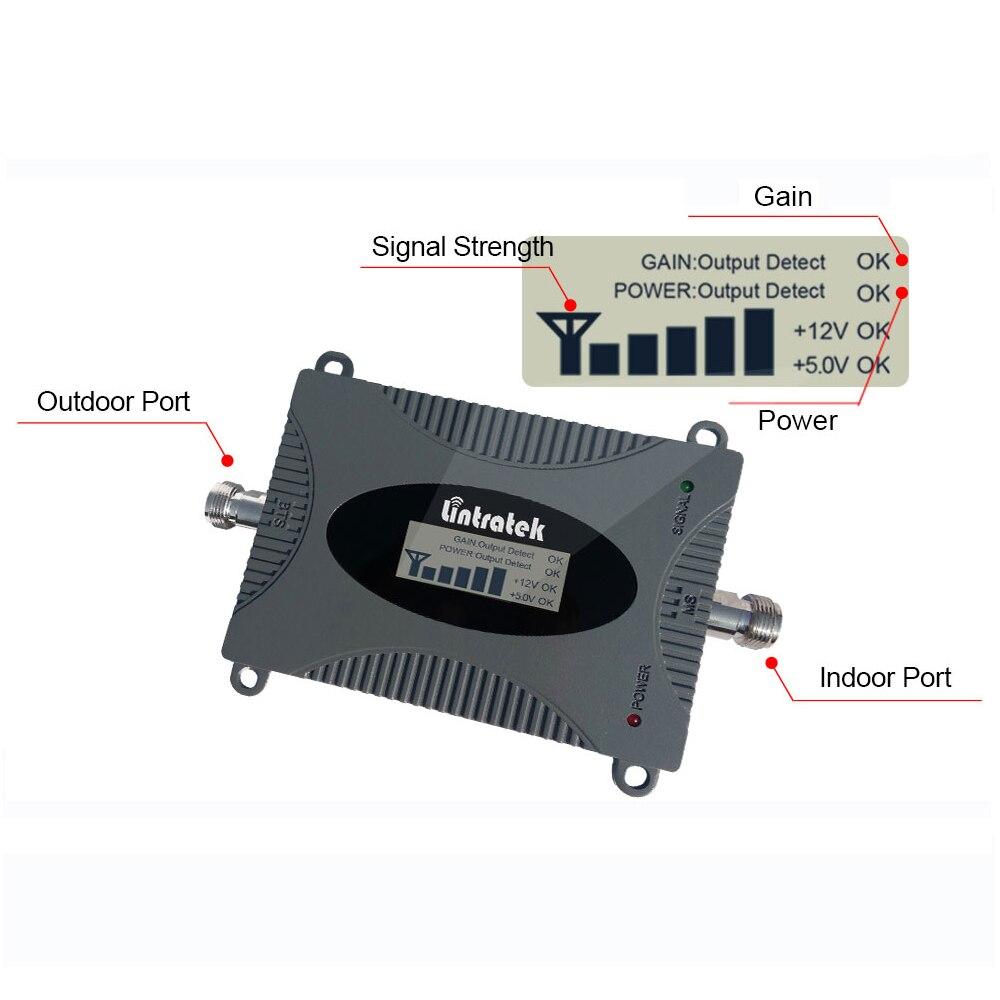 Image 4 - Lintratek 3G UMTS 850 МГц (Band 5) Repetidor 850 МГц ЖК дисплей  мини повторитель сигнала мобильного телефона сотовый GSM 850 МГц  антеннаphone signal repeaterlintratek 3gphone signal