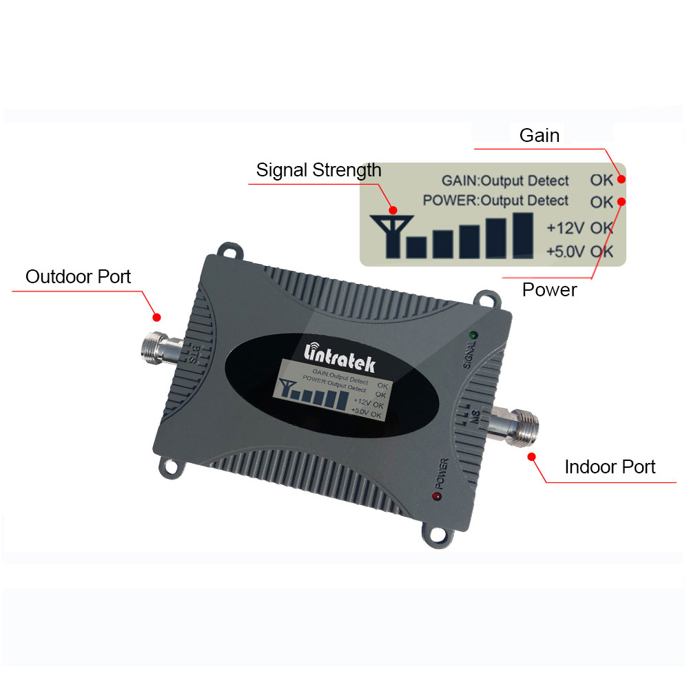 Image 4 - Lintratek 3G UMTS 850MHz (Band 5) Repetidor 850 mhz LCD Display Mini Mobile Phone Signal Repeater Celular  GSM 850 MHz Antenna @-in Signal Boosters from Cellphones & Telecommunications