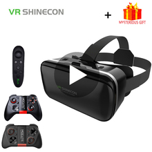 Stereo Shinecon Casque VR Box Virtual Reality Glasses 3 D 3d Goggles Headset Helmet For Smartphone Smart Phone Cardboard Google 100% original vr shinecon 6 0 virtual reality goggles 120 fov 3d glasses google cardboard with headset stereo box for smartphone