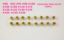 New 16pcs Carburetor Main Jet kit For PWK Keihin OKO CVK 90,92,95,98,100, 105, 108, 110, 115, 120, 125, 130, 135, 140,145,150(China)