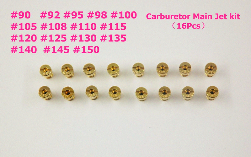 New 16pcs Carburetor Main Jet kit For PWK Keihin OKO CVK <font><b>90</b></font>,92,95,98,100, 105, 108, 110, 115, <font><b>120</b></font>, 125, 130, 135, 140,145,150 image