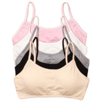 2pcs/Lot Children Girls Bras Solid Color Young Girls Underwear Wireless Small Training Puberty Bras Undergarment Clothes