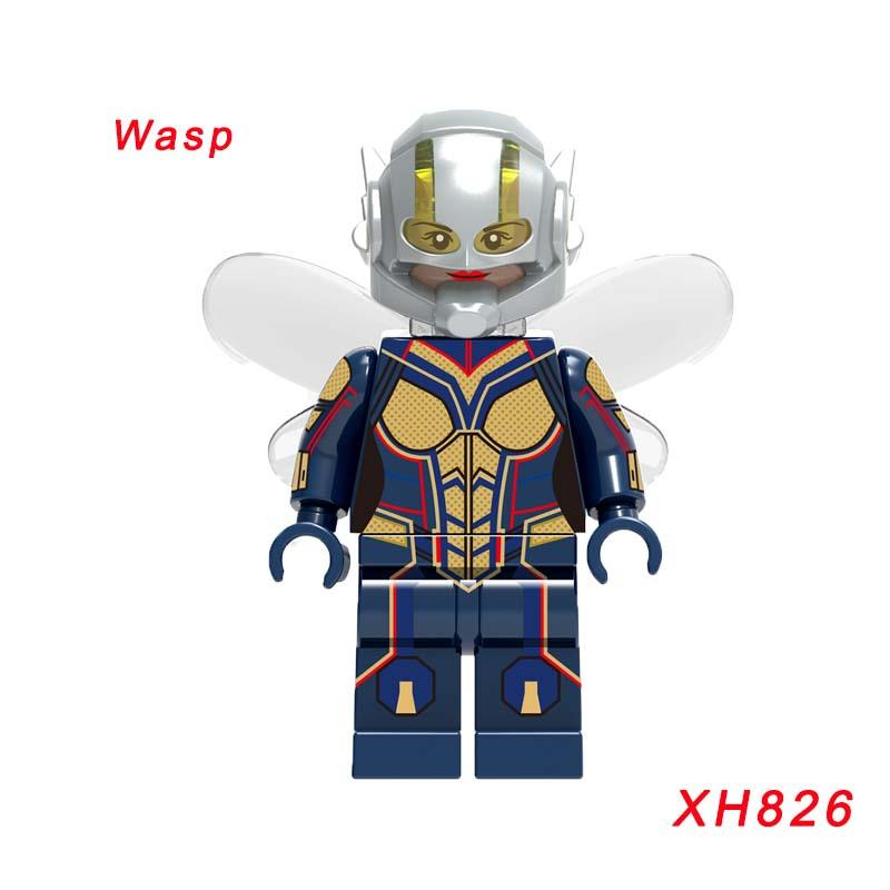 Xh826 Super Heroes Infinity War Figure Wasp Thanos Doctor Stranger Thor Proxima Night Vision Building Blocks Children Gift Toys