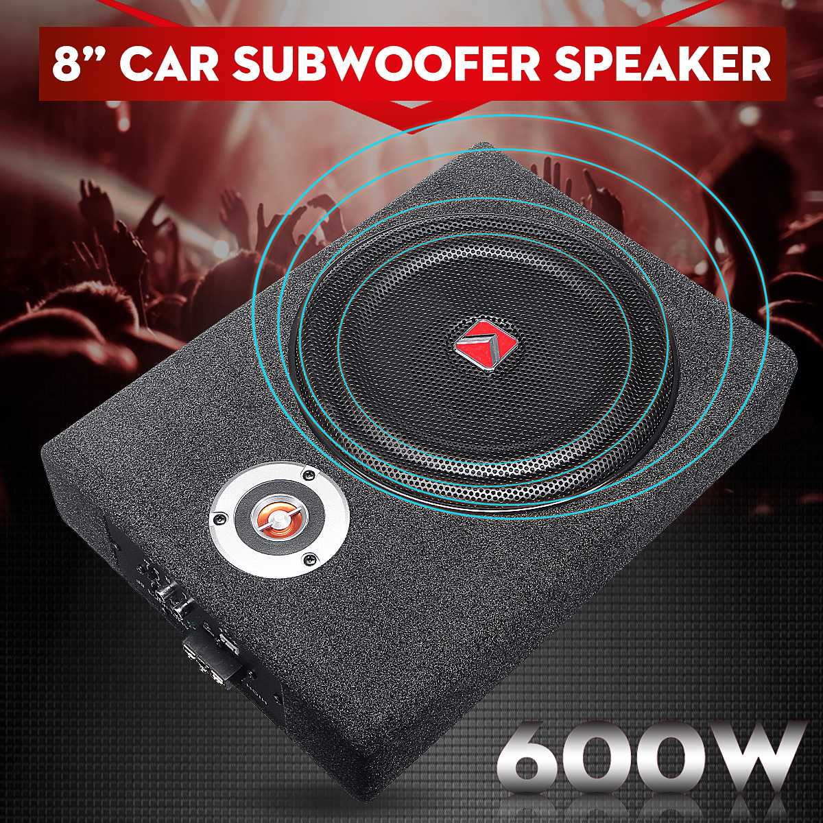 Car Subwoofers Speaker Power-Amplifier Audio-Bass Active Under-Seat 8inch Slim Stereo