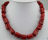 Free shipping >>@ >818 genuine sweet red coral bead jewerly tibet silver necklace