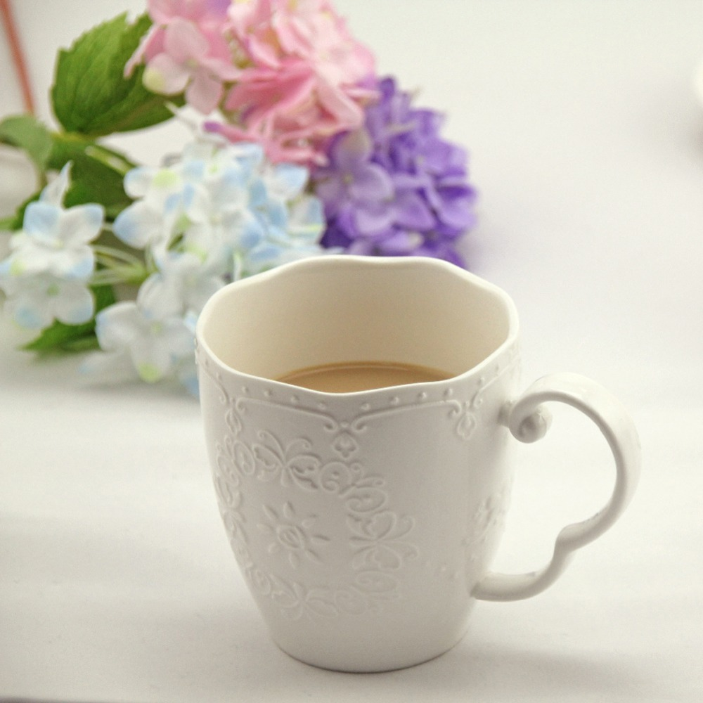 1Pcs New arrival KEYAMA European-style lace embossed ceramic - Kitchen, Dining and Bar