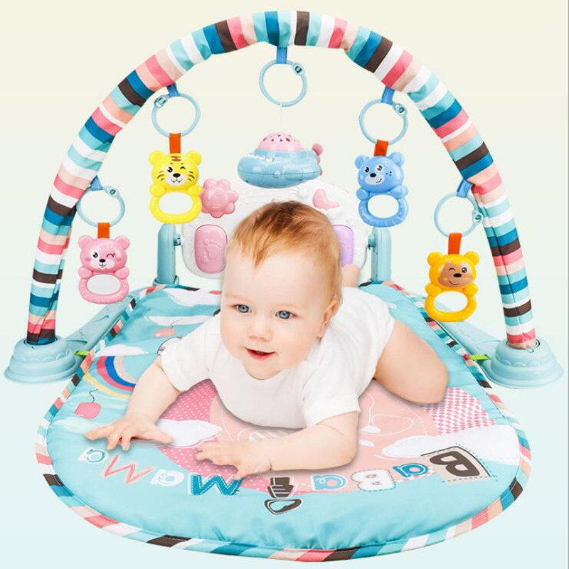 Baby Playpens Kids Baby pedal piano fitness 0-1 years old Play game blanket early childhood educational toys Juguetes Gifts