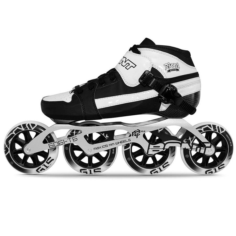 100% Original Bont Pursuit 2PT Speed Inline Skates Heatmoldable Carbon Fiber Boot 195mm 6061 Frame 4*90/100/110mm Wheels Patines цена