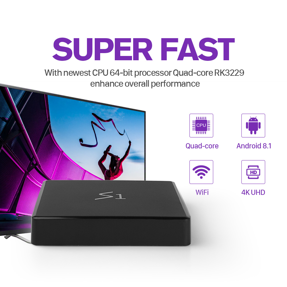 Leadcool S1 IPTV France Arabic Box with 1 Year SUBTV IPTV Code Android 8 1 RK3229 Full HD IPTV French Belgium Spain Netherlands in Set top Boxes from Consumer Electronics