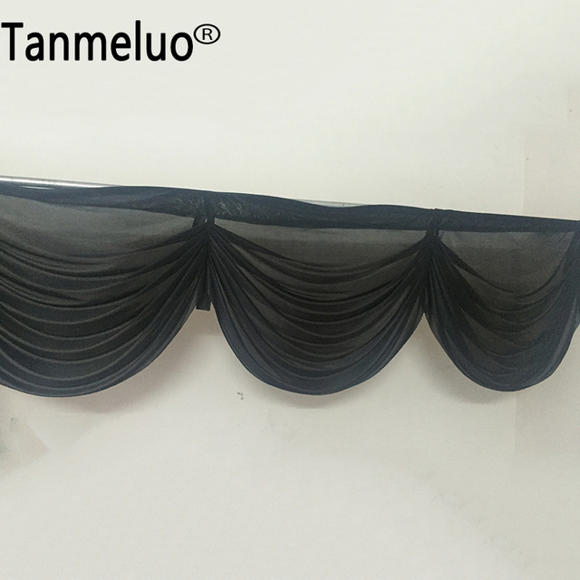 6 meter length black swag wedding backdrop event party hotel wedding decorating swags black stage background - Black Hotel Decoration