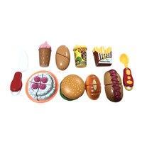 10 Stks/set Poppenhuis Miniatuur pretend Squishy voedsel speelgoed Thumbnail Plastic Vroege Onderwijs Meisje Speelgoed Voor Baby BM002