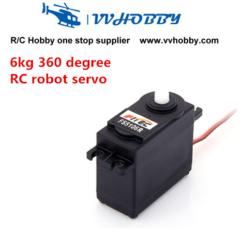 6kg.cm 360 Degree Continuous Rotation rc Robot Servo FS5106R levett caesar prostate massager for 360 degree rotation g spot
