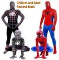 Rojo Negro Del Hombre Araña Traje Traje de Hombre Araña Spider-man Disfraces Adultos Niños Niños Spider-Man Cosplay Ropa