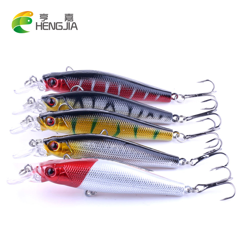 HENGJIA 5pcs Fishing Lure Minnow Wobblers Hard Bait carp Fishing Tackle 7.2G 9CM Isca Artificial Bait pesca Crankbait Swimbait mmlong 12cm realistic minnow fishing lure popular fishing bait 14 6g lifelike crankbait hard fish wobbler tackle pesca ah09c