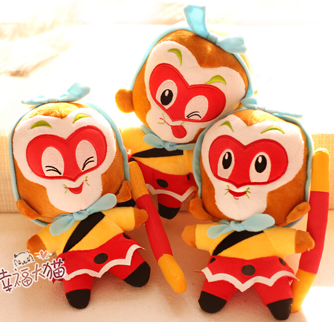Christmas Gift for kids 1pc 20cm Journey to the west little Monkey King plush doll novelty romantic girl stuffed toy