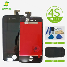 SYART LCD for iPhone 4S Touch Screen Digitizer Glass Replacement Assembly with Repair Tool and Non-slip mat