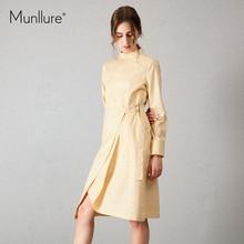 Munllure original design yellow bandage dress women party sexy dresses fashion vestidos Autumn jurken robe femme ete 2017 vadim